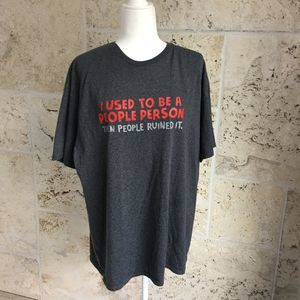 People Person Charcoal Gray Tee, size XL
